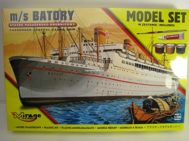 Loď Batory 1:500 Model set Mirage Hobby 850091